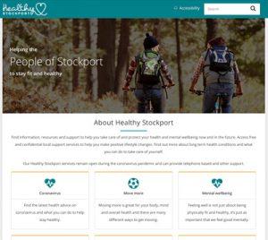 Healthy Stockport website